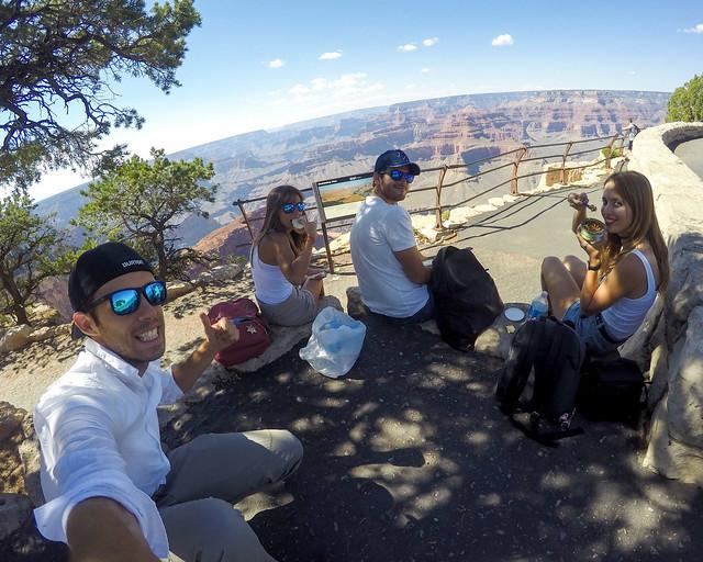 Picnic en el Gran Cañón del Colorado
