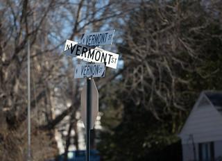 Where Vermont Street crosses Vermont Street