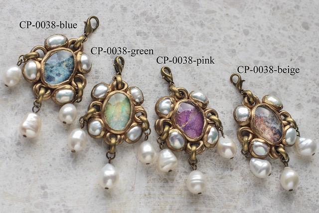 CP-0038-blue, green, pink, beige