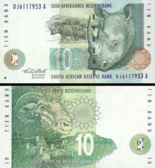 10 Randov Južná Afrika 1993, P123a