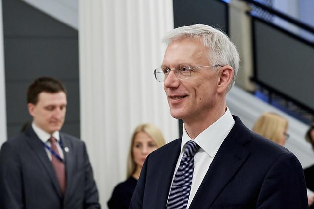 Ministru prezidents Krišjānis Kariņš tiekas ar Somijas Ministru prezidentu Juhu Sipile (Juha Sipilä)