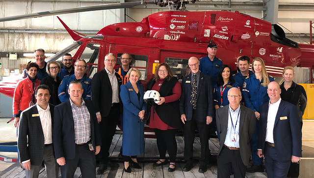 New life-saving helicopter for Alberta patients