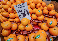 Orange fruits for sale at the local market