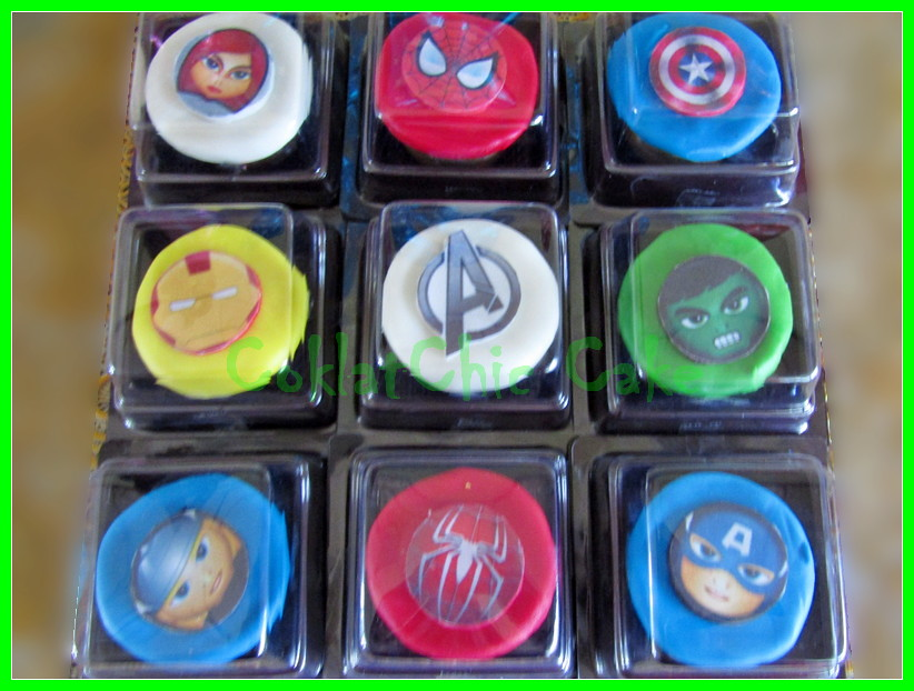 Minicupcake Edible The Avengers