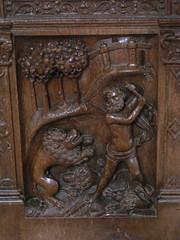 20080519 25958 Jakobus Montreal Kirche Holzschnitzerei Samson Löwe - Photo of Marmeaux