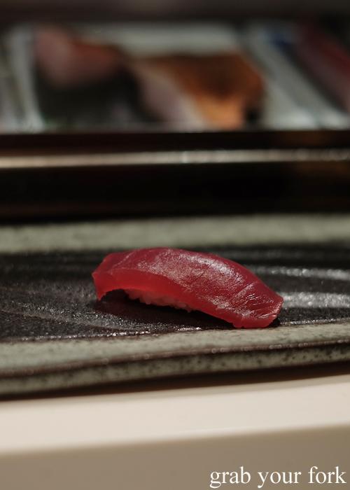 Akami from wild southern bluefin tuna at the Masuya omakase in Sydney