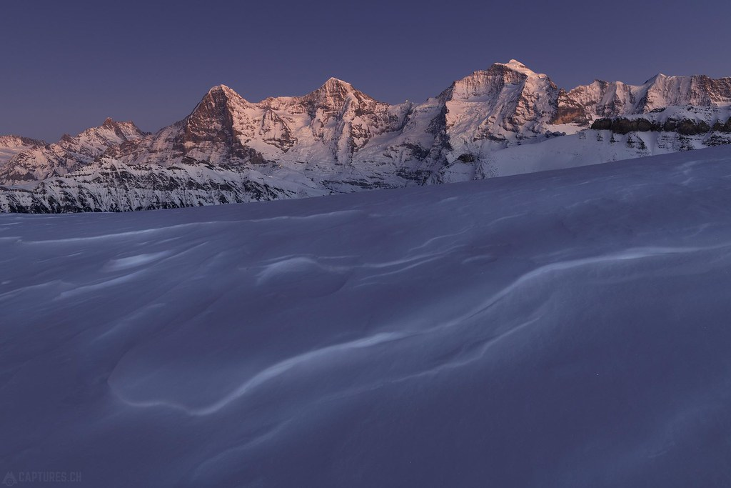 Blue hour - Eiger Mönch and Jungfrau