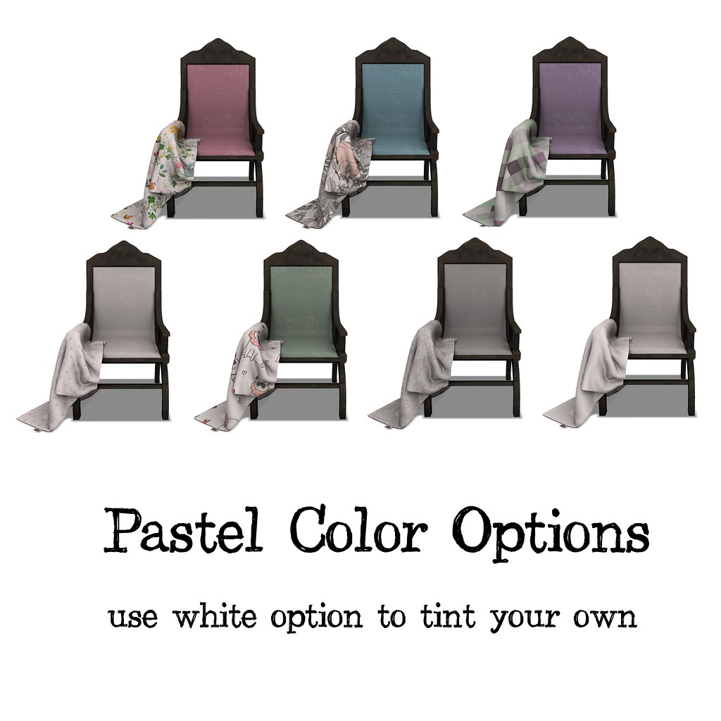 .:Short Leash:. The Favorite Chair – Pastel Options
