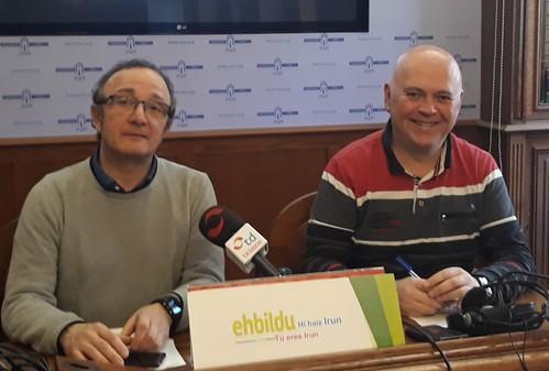 Comparecencia de prensa de los concejales de EH Bildu Irun