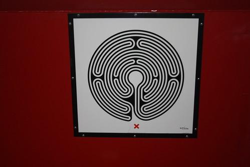London Underground Labyrinth 45 North Wembley close up