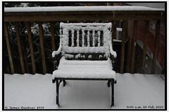 Chair on the deck