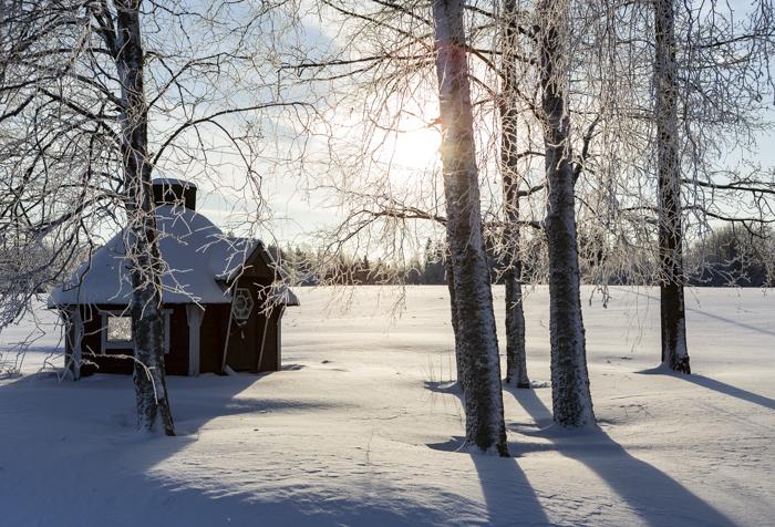 Lähiseutumatkailu talvi maaseutu grillikota