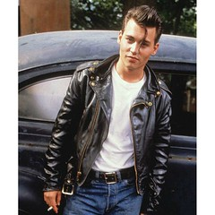Johnny Depp TV Series Cry-Baby Men's Motorcycle Premium Leather Slim Fit Jacket