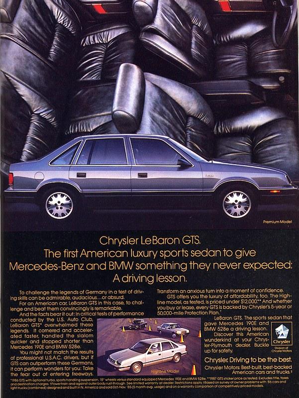 1987 Chrysler LeBaron GTS