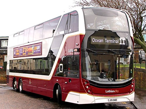 SJ19 OWD 'Lothian Buses' No. 1070 'Lothiancity'. Volvo B8RLE / Alexander Dennis Ltd. Enviro 400XLB on Dennis Basford's railsroadsrunways.blogspot.co.uk'