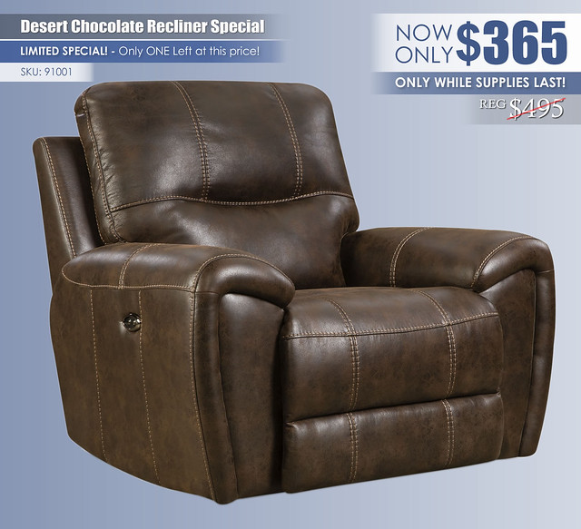 Desert Chocolate Recliner Special_91001