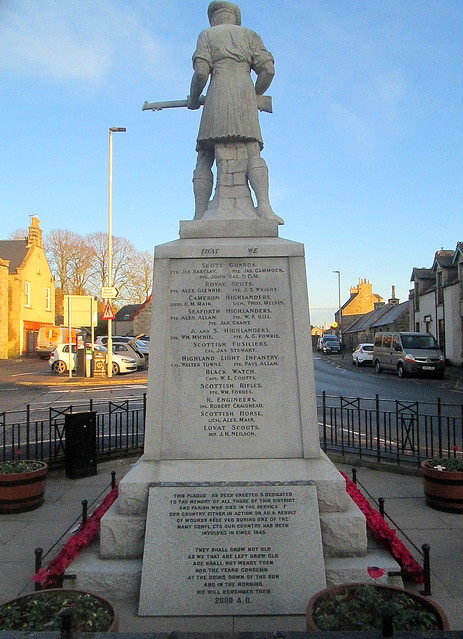 Ellon War Memorial from West