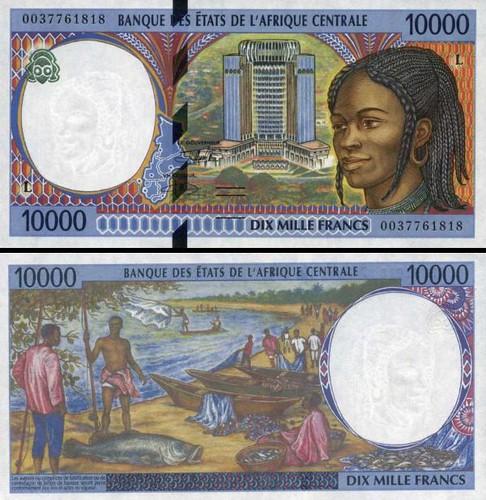 10000 Frankov Gabon (Central African States) 2000, P405Lf