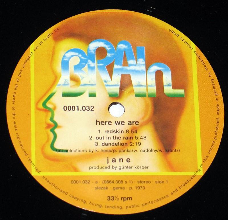 """Jane Here We Are 12"""" vinyl LP"""