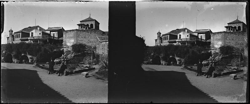 Jardines del Museo del Greco en Toledo el 24 de febrero de 1918. Fotografía de Carles Batlle Ensesa © Ajuntament de Girona. CRDI (Carles Batlle Ensesa)