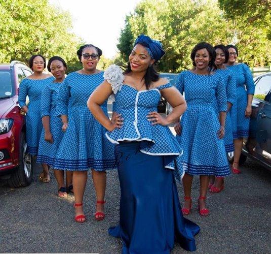 Wedding reception shweshwe dresses for wedding 2019