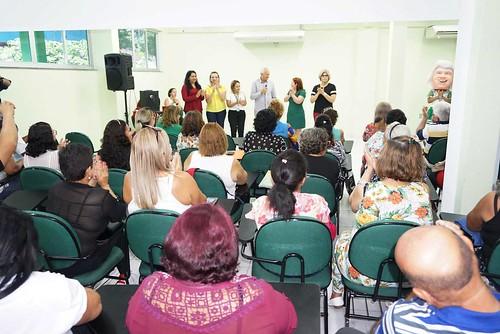 14.03.19.Semed dá boas-vindas aos alunos do Cemeapi em parceria com a Funati.