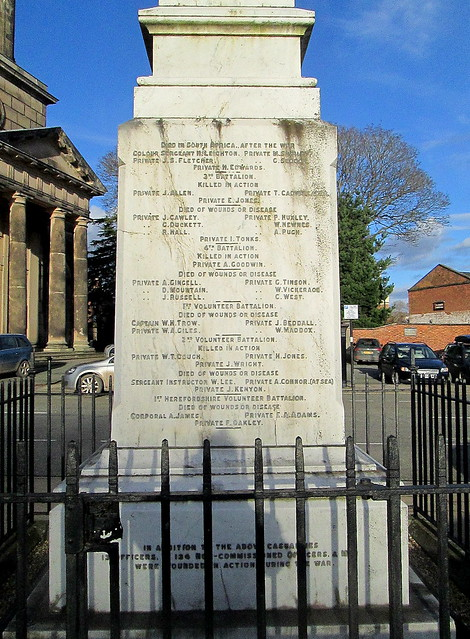 ome names Shrewsbury Boer War Memorial