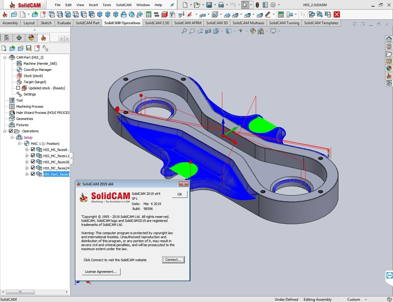 Download SolidCAMCAD 2019 SP1 Standalone Multilang x64 full license