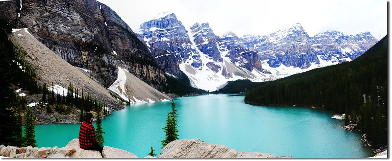 Moraine Lake view from rockpile