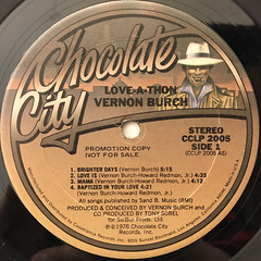 VERNON BURCH:LOVE - A -THON(LABEL SIDE-A)