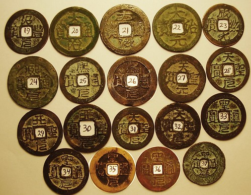 Robinson Vietnamese cash coin collection