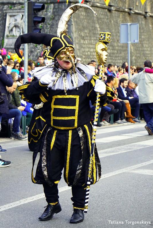 Мужчина в венецианском карнавальном костюме