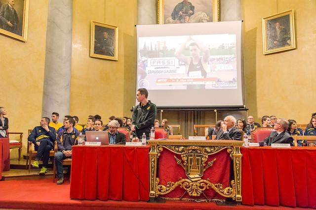 Filippo Tortu inaugura l'anno sportivo dell'Università di Pavia - 26 febbraio 2019