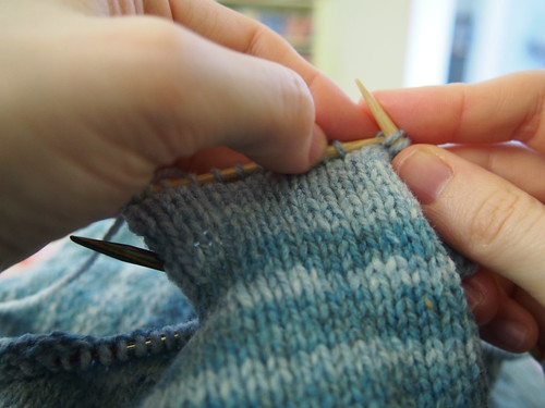 knitting the pocket lining