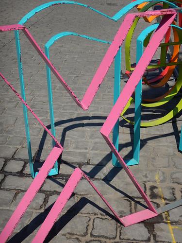 'CDMX' bike rack re-branding in Mexico City