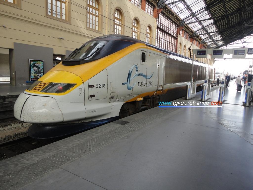 La rame Eurostar 3218 en provenance de Londres en gare de Marseille Saint-Charles