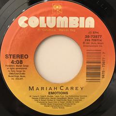 MARIAH CAREY:EMOTIONS(LABEL SIDE-A)