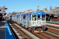 Santa Commutes by train