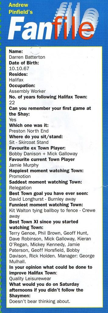 (Programme) 13-03-1999 Halifax Town 1-0 Carlisle United 12