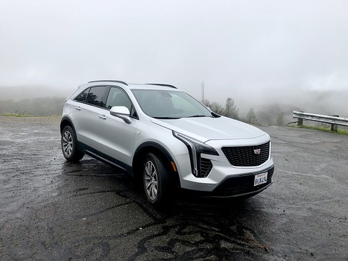 North-East California Trip - 49 Our Cadillac XT4 on CA State Highway 49