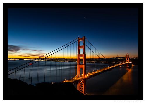 sausalito california goldengate sanfrancisco dawn twilight baybridge
