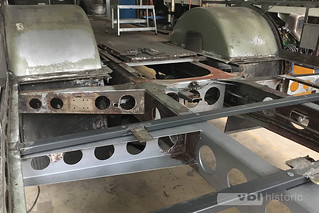 Entrostungsarbeiten Chassis Wagen Nr. 81