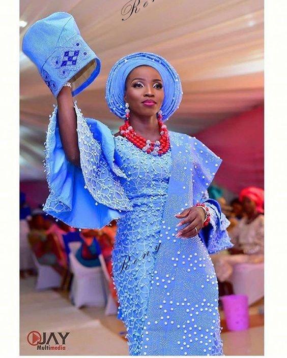 Nigerian Wedding Menu: Look At These Beautiful Aso Ebi Styles 2019