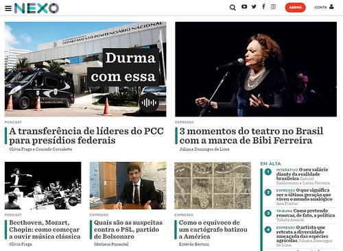 Nexo is 100% digital and focuses on context journalism(Screenshot)