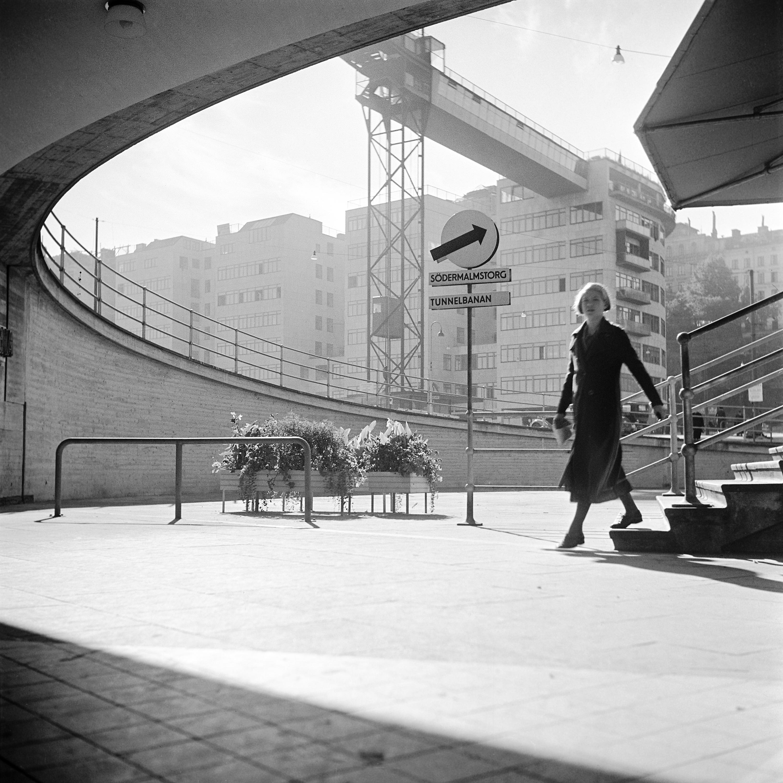 Woman at Slussen, Stockholm, Sweden