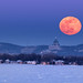 snow-moon rising over Montreal by marianna armata