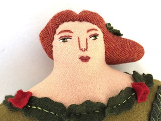 Summer Garden Lady Pillow Doll