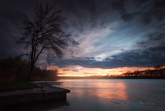Couchant sur la Saône
