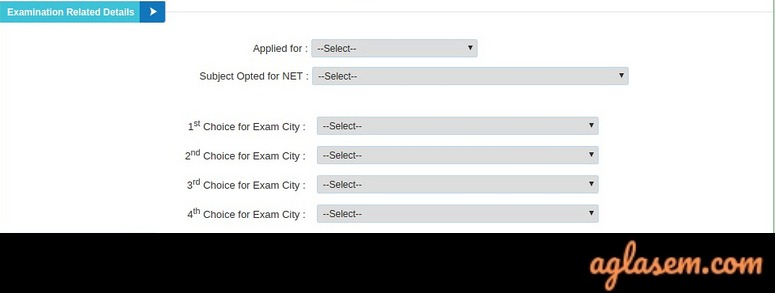 UGC NET Application Form 2019 - Examination related detials