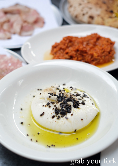 Burrata at Totti's by Merivale in Bondi